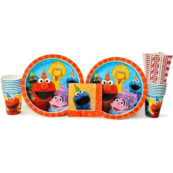 by GoodyPlus SG/_B00J2DHF3G/_US Sesame Street Elmo Party Favor Set 42 Pcs 6 Packs