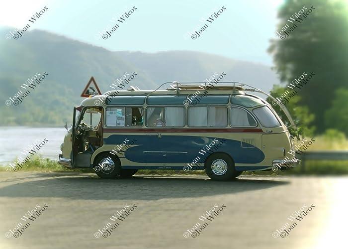 Vintage, retro, alemán, antiguo Setra autobús Van por la Fotografía ...