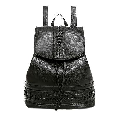 db6cd10637 OHQ Mme Backpack Sac à Dos Solide Petit Fraise Noir Voyage Femmes À Loisirs  ÉTudiant A