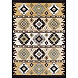 Achim Home Furnishings Ferrera Collection Area Rug, Mayan Pattern, 5.2 Ft. x 7.7 Ft. For Sale