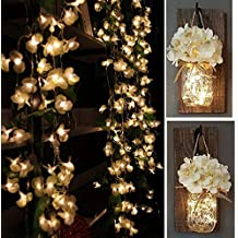 YINUO 43ft 100 LED Flower String Lights,8 Modes Decorative Flower Fairy Lights Waterproof Electric Curtain Lights,Christmas Decoration light for Home/Xmas/Bedroom/Party,UL Listed