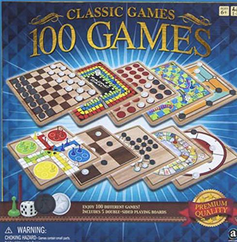 Adults /& Seniors PROSPERITY DEVINE Teens Classic Games 100 Games Box for Kids