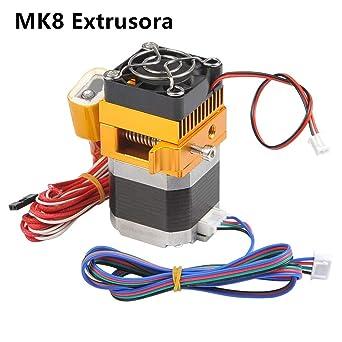 Topmore MK8 Extrusora Cabeza de Impresión de Boquilla 0.4mm para ...