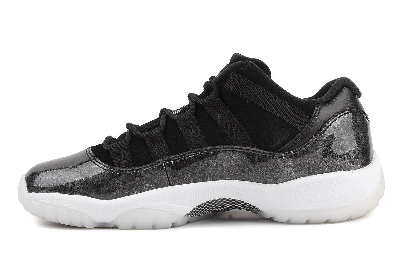 Jordan Kids Air 11 Retro Low BG Black//White-Metallic Silver Youth Size 3.5