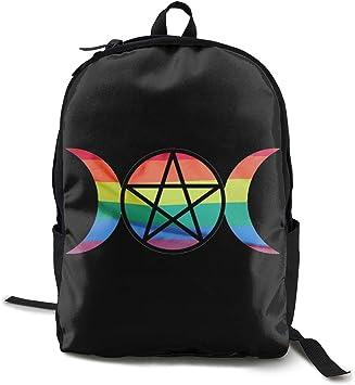 Student Bag,Triple Moon Pentacle Pagan Backpack, Atractivas ...