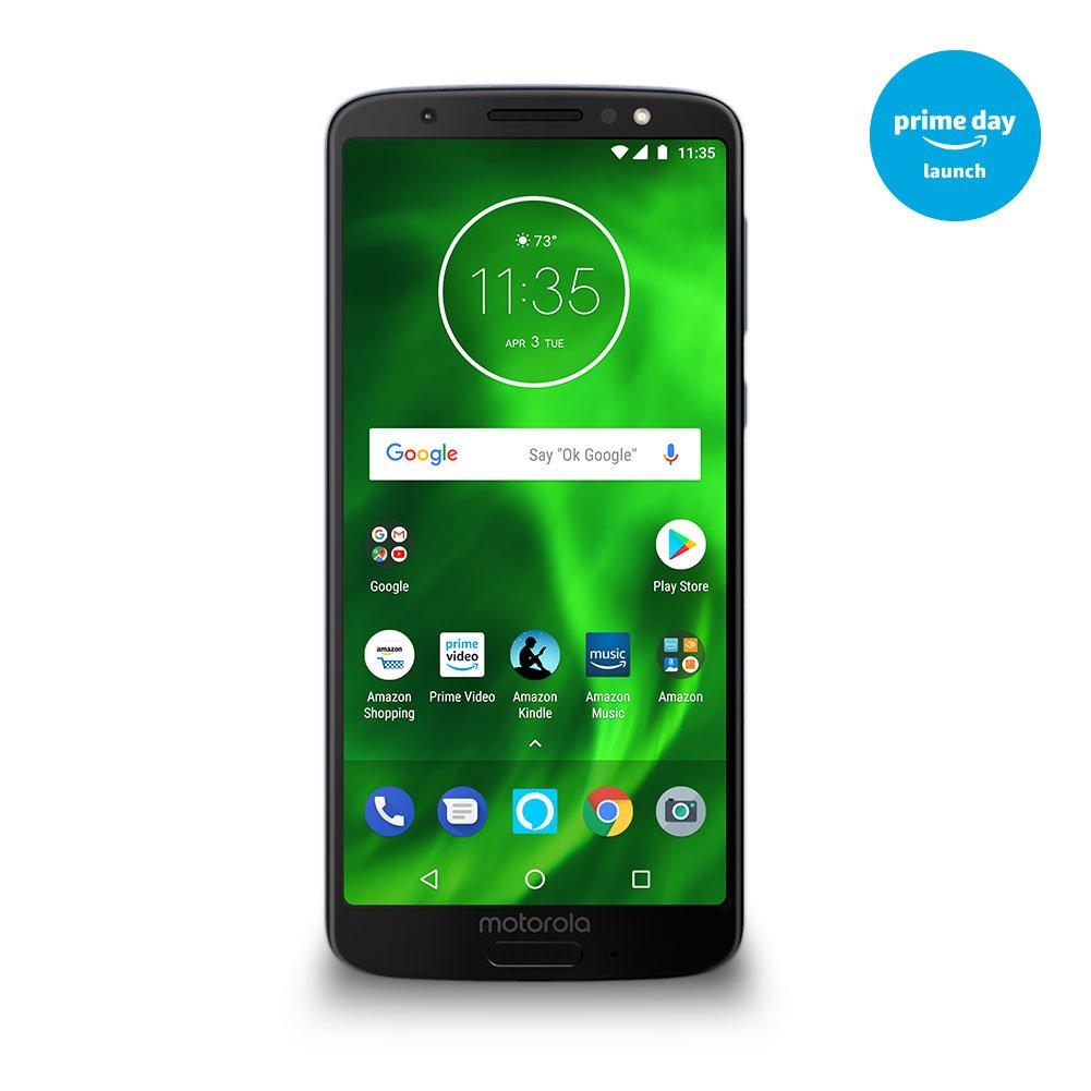 Moto G6 – 64 Gb – Unlocked (At&T/Sprint/T Mobile/Verizon) – Deep Indigo – Prime Exclusive Phone by Motorola