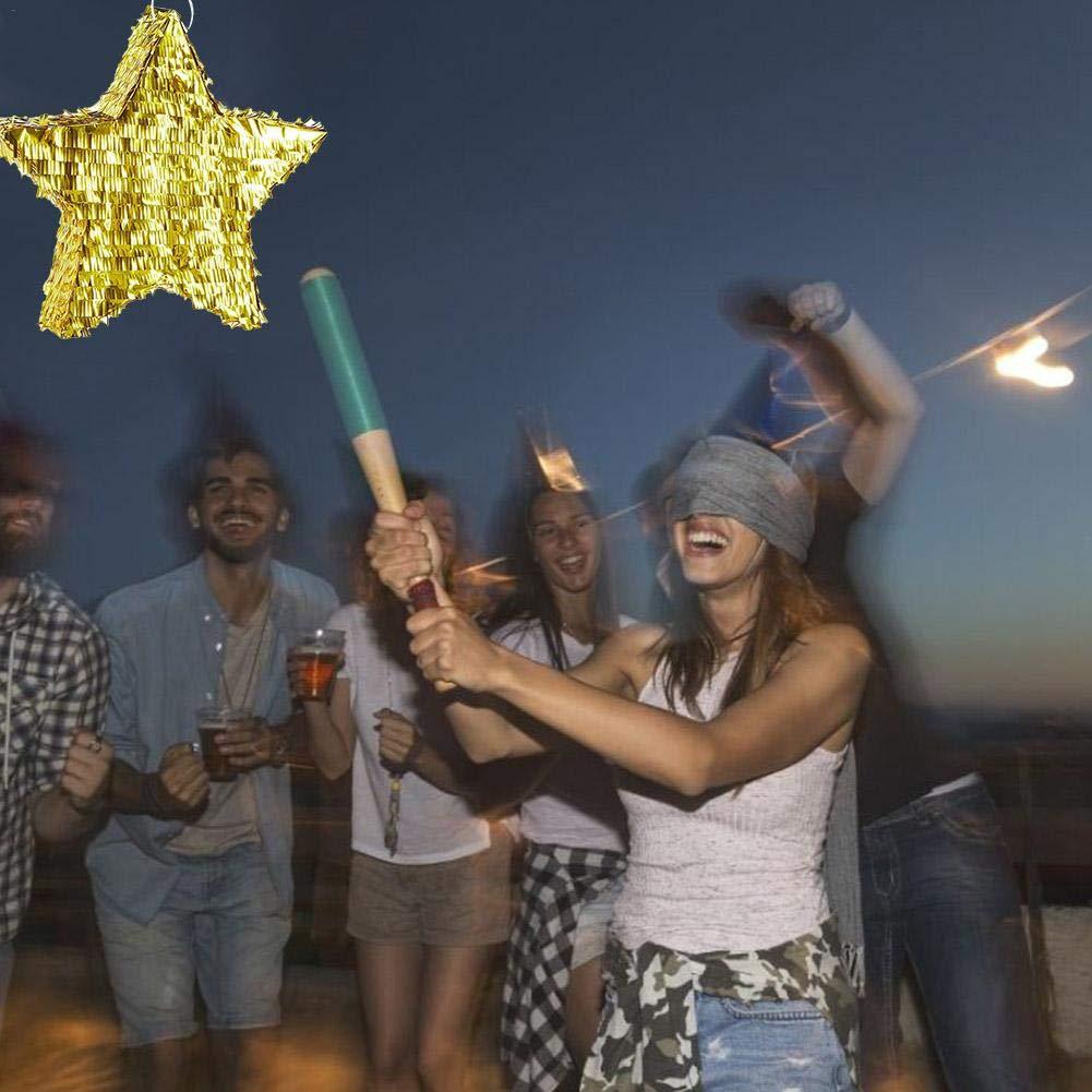 Golden Star Pinata Fiesta de cumpleaños Hoja Decoración ...