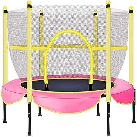 JBFZDS Trampolines Pequeños For Niños, Trampolín For Niños con Cerramiento Neto Gran Trampolín De Jardín Al Aire Libre, 55 × 55 Pulgadas (Color : Pink): Amazon.es: Deportes y aire libre