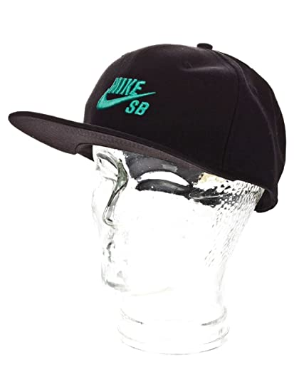 Amazon.com  Nike Sb Icon Snapback Hat (Black Crystal Mint) Hats ... b3b12dd62