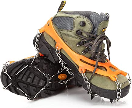 10 Tooth Snow Grips Ice Creepers Shoe Boot Anti Slip Crampon Traction Cleats