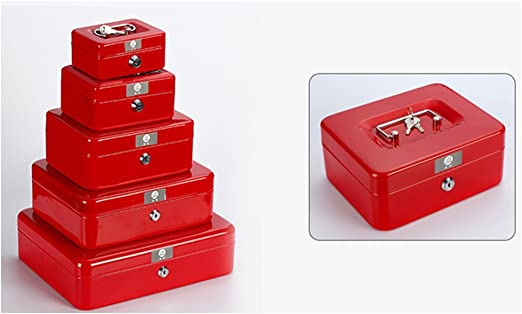 XICHENGSHIDAI Hierro Caja con Cerradura Caja pequeña portátil Caja ...