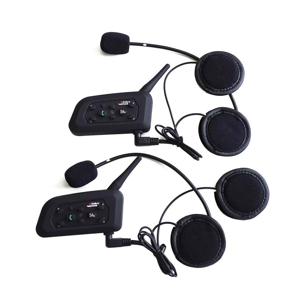 2017 último V6 BT Bluetooth Casco Headset 1200 M Full Duplex de comunicación de moto Auriculares inalámbricos