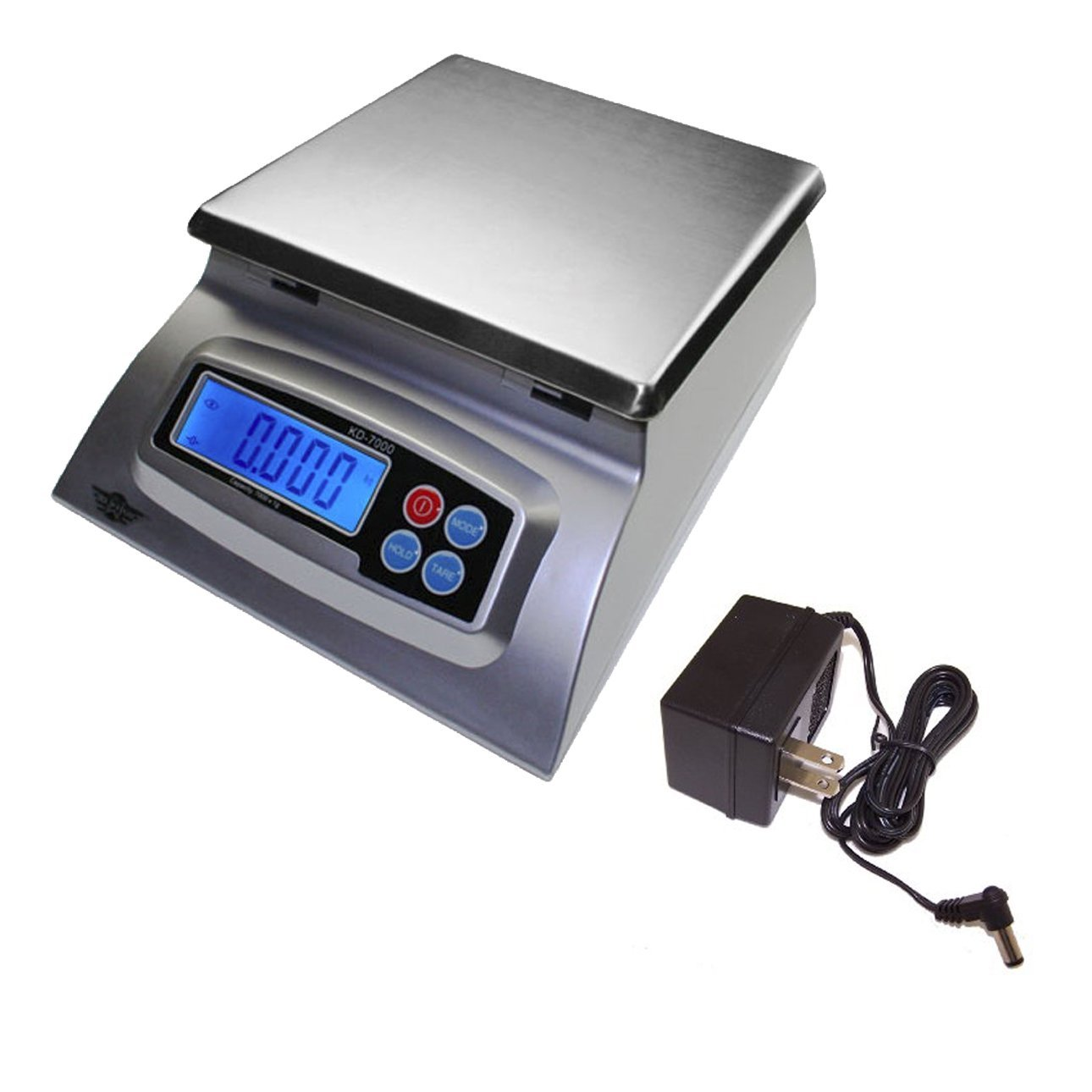 My Weigh KD-7000 Kitchen And Craft Digital Scale, Silver + My Weigh AC Adapter by My Weigh