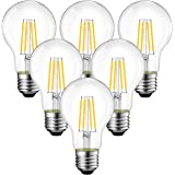 ANWIO A19 Vintage Edison LED Filament Bulb E26 Base, 3.5W (40W Equivalent), Warm White 2700K, 450 Lumens, Non-Dimmable…