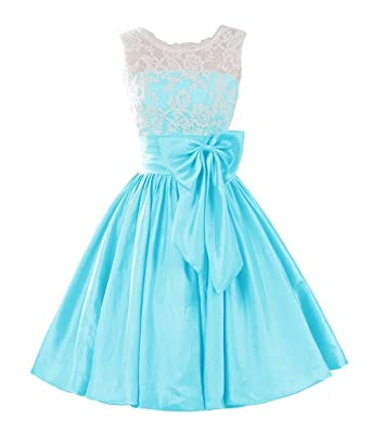 Fanciest Womens Short Homecoming Dresses Lace Prom Dresses Formal Gowns Blue: Amazon.co.uk: Clothing