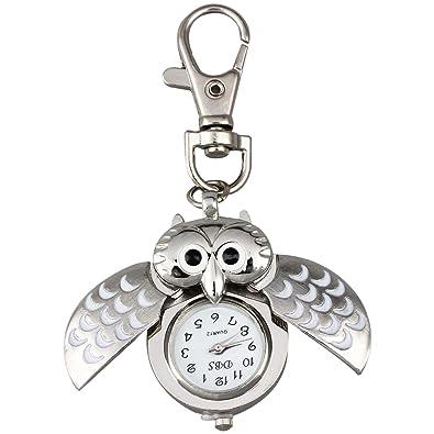 AKORD Metal Owl Pocket Pendant Watch Key Chain Keyring  Amazon.co.uk   Jewellery 36ddefdc8