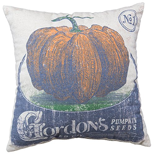 Primitives by Kathy Feed-Inspired Throw Pillow, 16-Inch Square, Pumpkin Seeds