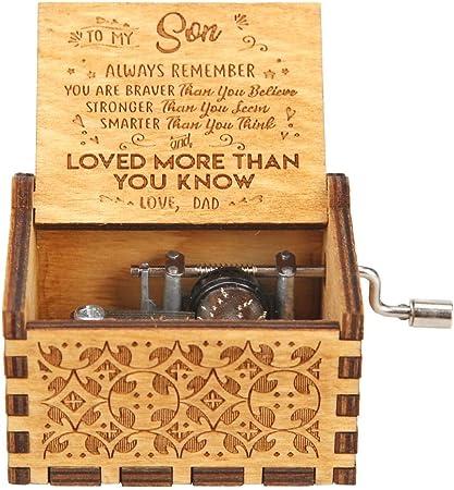 Gowind6 Cajas de música de Madera grabadas con láser, Caja de música Vintage, Esposa, Hijo, Hija, Madre, Nieta, Aniversario de Boda, cumpleaños, Navidad, día de San Valentín: Amazon.es: Hogar