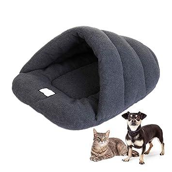 New_Soul Saco de Dormir para Perros o Gatos Mascotas Suave y Cálida Cama con Factor de Carbón de Bambú Puede Absorber el Olor M L (M, Gris): Amazon.es: ...