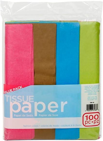 Multicolor Tissue Paper Pack Darice 2506-128 Craft Supplies 20 x 26 100ct