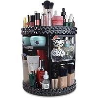 InnSweet 360 Organizador de maquillaje giratorio, vitrina de almacenamiento de cosméticos ajustable con 8 capas, estante…