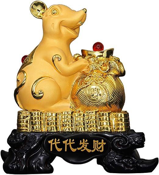 sculpture Gold Golden monkey with Ball figurine decor handmade Statue Bronze