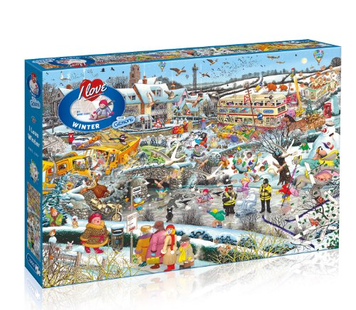 Gibsons I Love Winter Jigsaw Puzzle - Puzzles Cartoon Jigsaw
