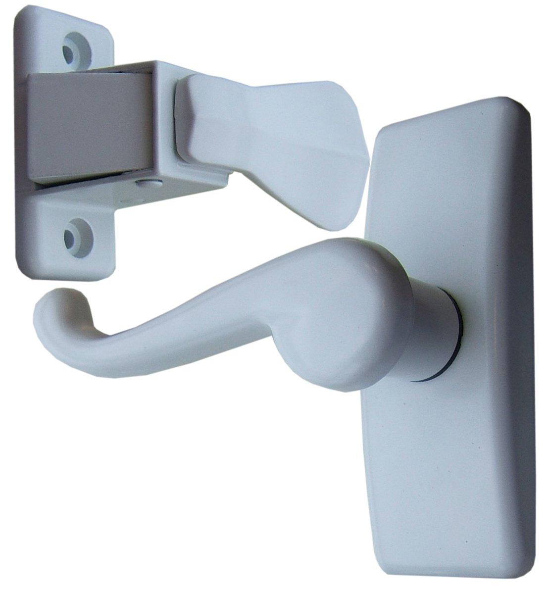 Charmant Ideal Security Inc. SKGLWH Storm Door Lever Handle Set, White     Amazon.com