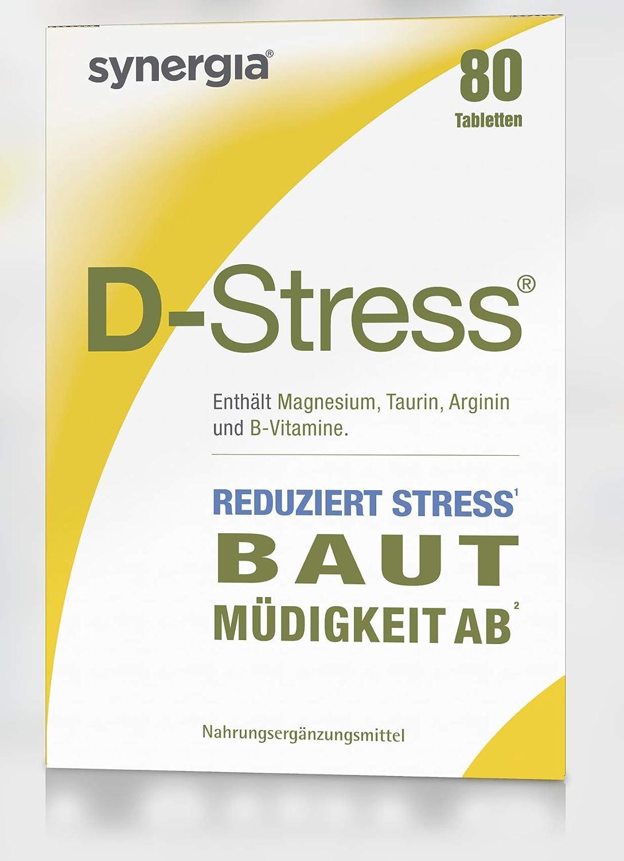 synergia D de estrés pastillas 80 unidades, 1er Pack (1 x 69 G): Amazon.es: Salud y cuidado personal