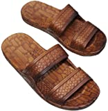 Brown Double Strap Jesus Style Hawaii Sandals. Unisex Sandal For Men Women and Teens