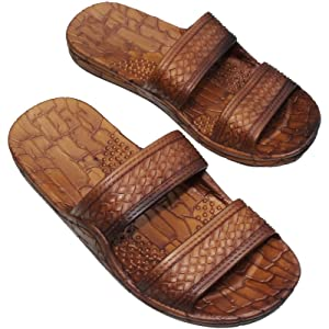b7fd5b91e325 Brown Double Strap Jesus Style Hawaii Sandals. Unisex Sandal for Men Women  and Teens