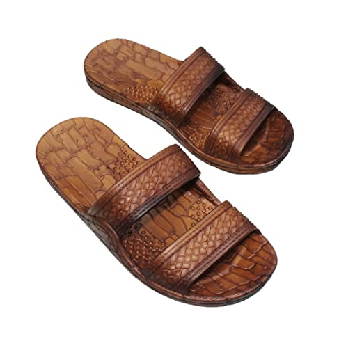 9a1207f43075c7 Imperial Toy Brown Double Strap Jesus Style Hawaii Sandals. Unisex Sandal  for Men Women and Teens: Amazon.ca: Shoes & Handbags
