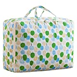 HomeMiYN Quilt Storage Bags Comforter Organizer Underbed Storage Containers for Bedding Duvets Clothes Sweaters Foldable with Zippers