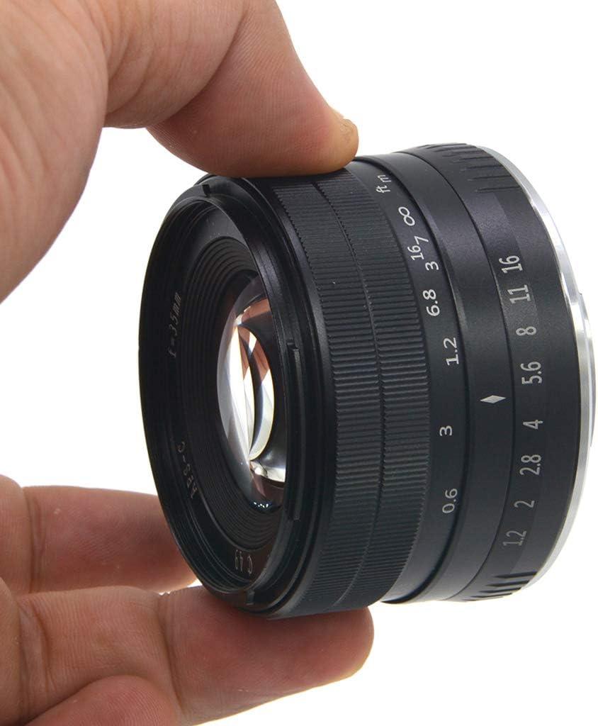 Huilier 35MM F1.2 Large Aperture Prime APS-C Manual Focus Lens for Fuji X Mount Mirrorless Cameras X-A1 X-A10 X-A2 X-A3 X-at X-M1 X-M2 X-T1 X-T10 X-T2 X-T20 X-Pro1 X-Pro2 X-E1 X-E2 X-E2s
