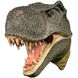 Wall Mounted T-rex Dinosaur Head Tyrannosaurus Rex Hanging Display Plaque Decor