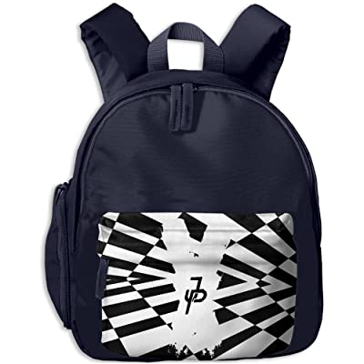 5cb0847986 hot sale 2017 JAKE PAUL X Black White Kid s School Backpack With Front  Pockets