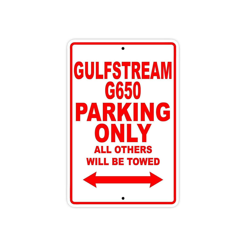 YASMINE HANCOCK Gulfstream G650 Parking Only Plaque de m/étal Signe Mur Art Affiche Club Bar d/écoration