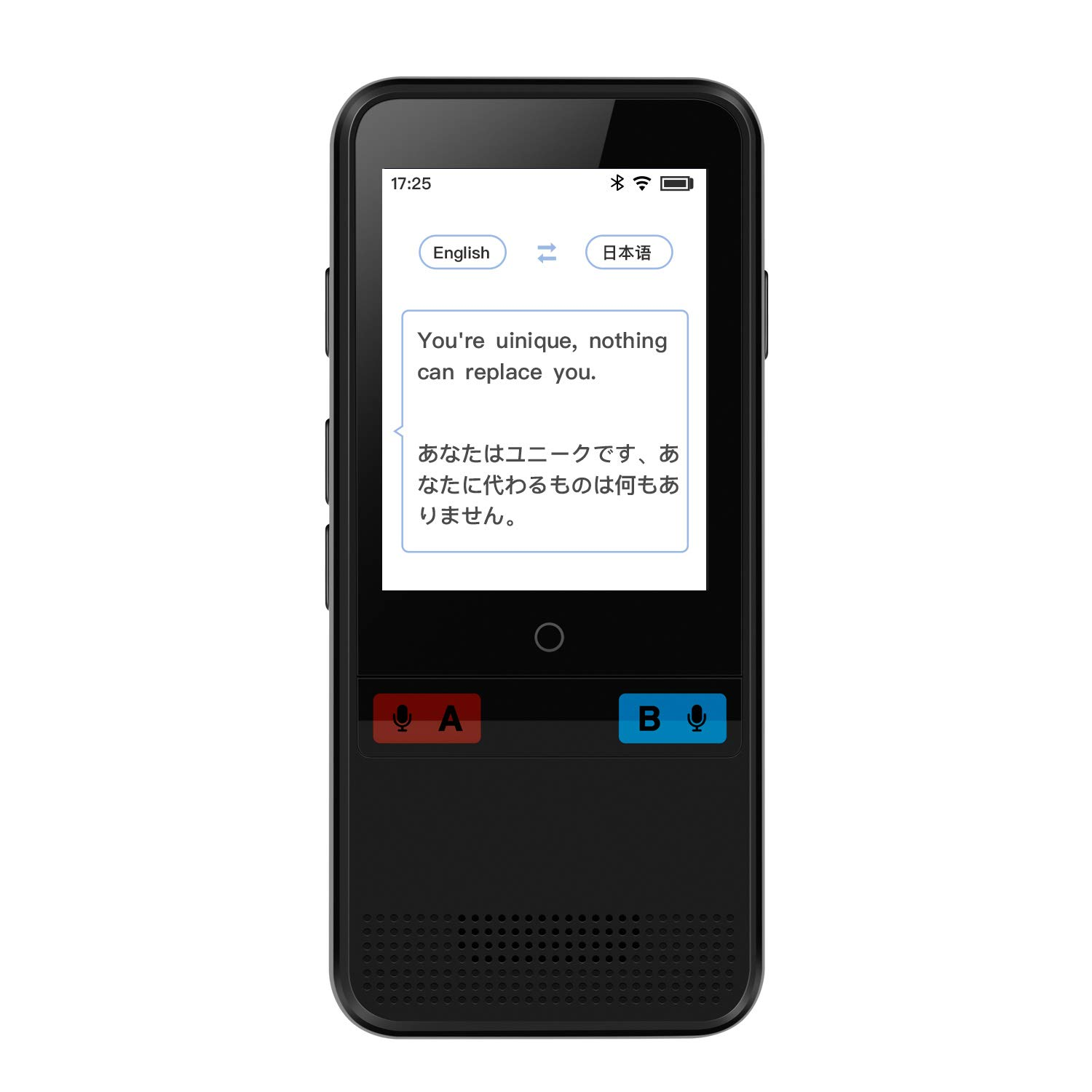 ODDO Language Translator Device,Integrated AI Speech Recognition and Translation Engine,Supports Instant Translation Between 45 Languages(Two-Way),Support WiFi 、Hotspots(Black)