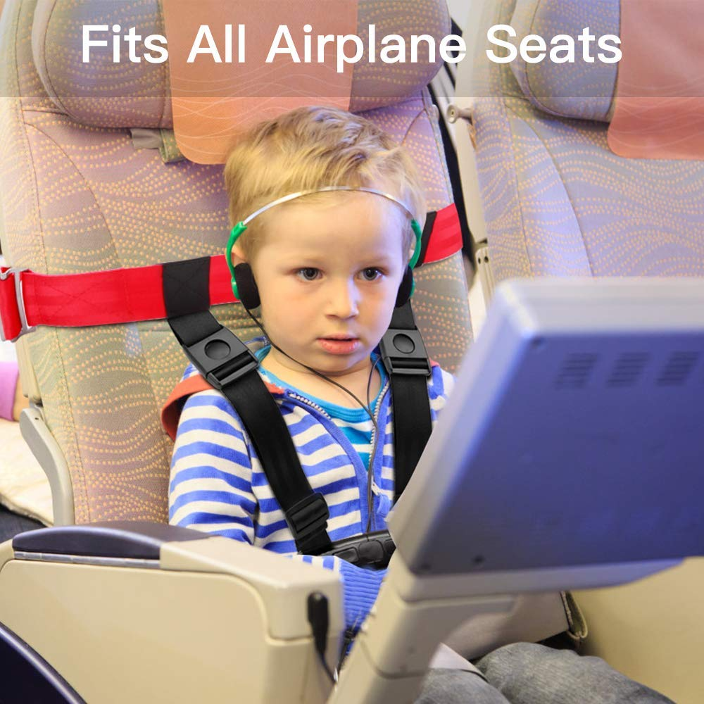 Child Airplane Travel Safety Harness Approved by FAA, Clip Strap Restraint System with Safe Airplane Cares Restraining Fly Travel Plane for Toddler Kids Child Infant by Mestron (Image #3)
