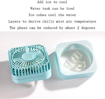 Ventilador de enfriamiento portátil USB pequeño, Humidificación de ...