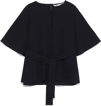 Zara 4043/061 - Camiseta de Tirantes para Mujer - Negro - XX ...