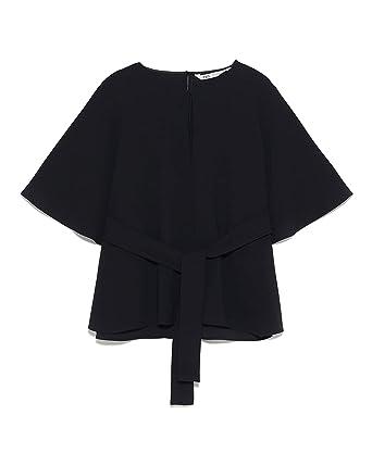 Zara 4043/061 - Camiseta de Tirantes para Mujer - Negro - XX-Large ...