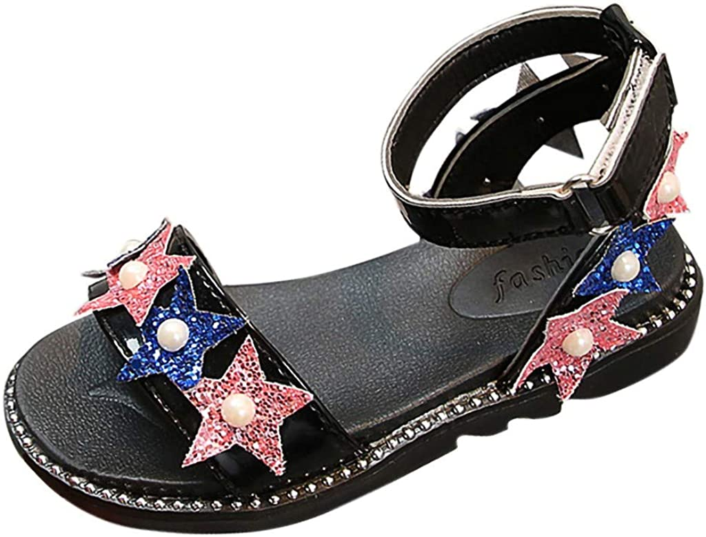 Lurryly Summer Children Infant Kid Baby Girls Bling Sequins Pearl Princess Shoes Sandals
