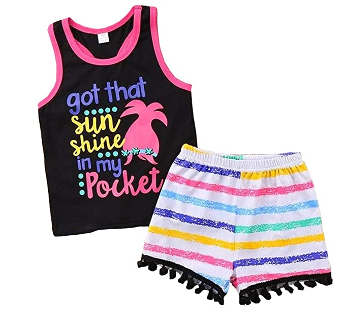 63017512c30bf Baby Boys Girl's Summer Cotton Sleeveless T-Shirt Vest+ Short Pants Clothes  Outfit Set