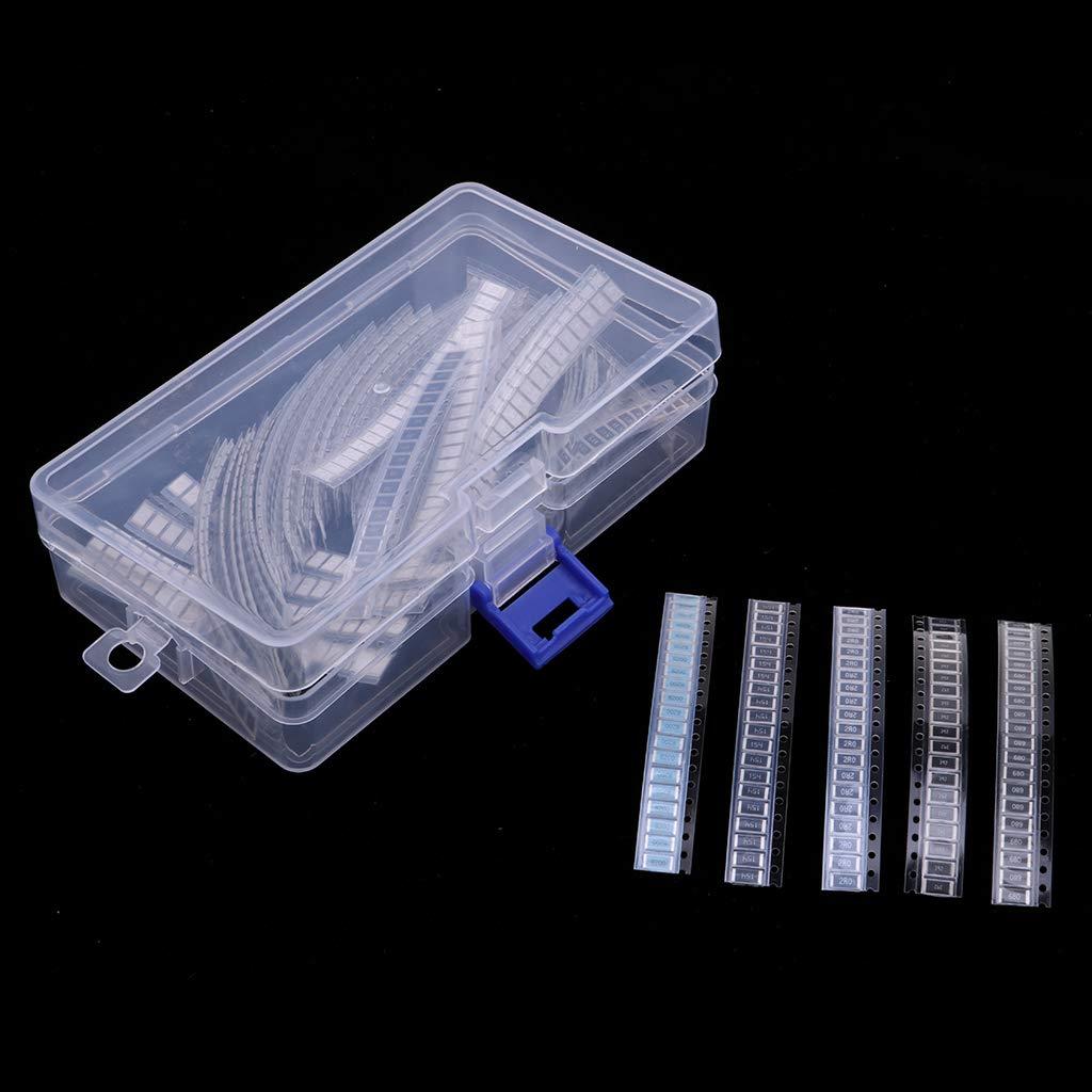 Baoblaze Set de 1460x Assortiment de R/ésistances de Puce SMD Accessoires pour chaudi/ères