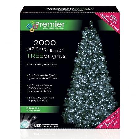 super sparkle 2000 white led christmas tree lights indooroutdoor 9ft