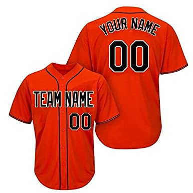 d5fbbb774 Image Unavailable. Image not available for. Color: Custom Men's Black Mesh  Baseball Jersey with Embroidery Numbers Player Name and Team Name