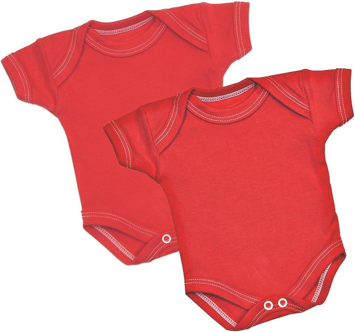 BabyPrem Fr/ühchen Kleine Fr/ühgeborene Baby Kleidung 2 Bodies Body Jungen M/ädchen Einfarbig 0-50 cm
