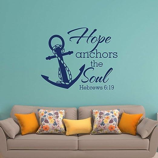 yuandp Hope Anchors The Soul Wall Etiqueta de Vinilo Escritura ...
