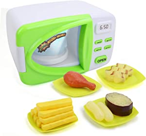TOYSBBS Toy Microwave,Kids Microwave Playset,Toy Microwave Kids Play Kitchen Just Like Home Microwave Kids Oven Fun Toys, Nice for Girls and Boys